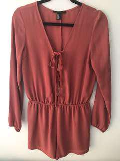 FOREVER 21 Crepe Playsuit (Size M)
