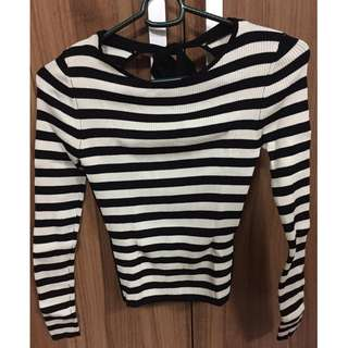 Zara knit AUTH womens shirt/blouse/long sleeves backless sexy dress S