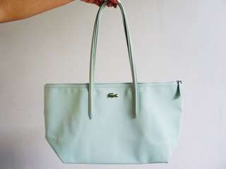 Lacoste L1 Large Shopping Bag With 25cm Drop in Bird's Egg Green #NF0648PO