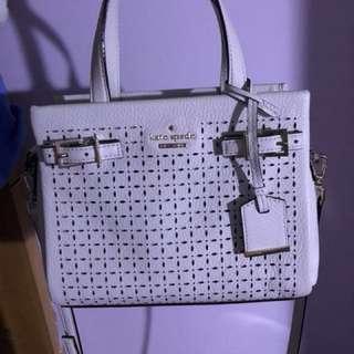 真(99%new)Kate spade 2 ways shoulder bag with flower patterns