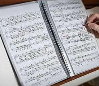 (全新)樂譜file可書寫,免反光煩惱(適合考試、表演、比賽)(20頁$55一本)music piano violin score
