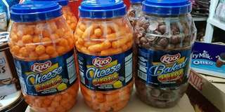 Kixx Cheese Balls, Cheese Curls and Baked Chips