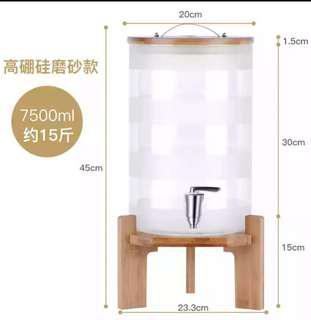Glass Jar Dispenser Fermentation Jar