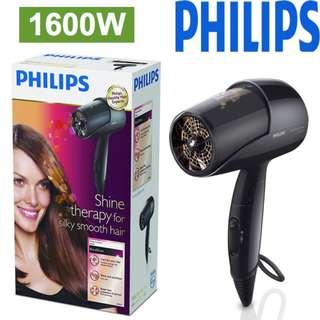 100% new Philips - 1600W 負離子護髮 風筒 吹風機 均勻加熱傳導科技可避免過度加熱