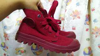 Palladium 女裝 紅鞋 size 37
