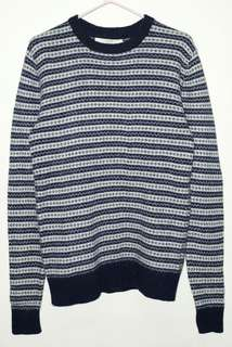 H&M LOGG Aztec Sweatshirt in Navy Blue