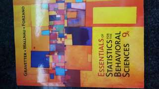 Essentials of Statistics for the behavioral Science 9e
