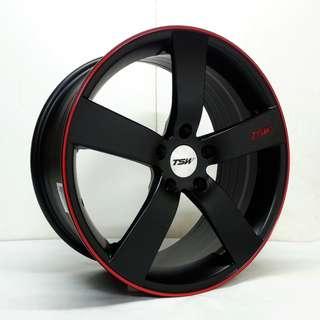 蕭條月6月限定促銷 18吋 TSW&時尚最新款鋁圈 搭配馬牌 225/40/18 高性能跑胎 MC6 圈胎一組級品優惠價