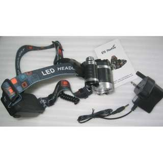 Cree T6 Headlamp (Head light and wall charger)