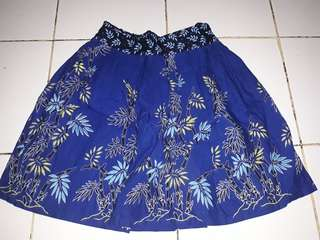 Rok Batik Biru