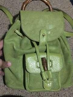 Gucci Bamboo backpack serial no. 003-1956-0030