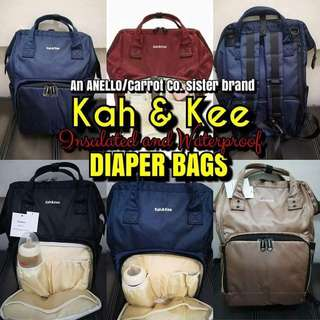 100% Authentic Kah & Kee Diaper Bags