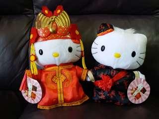 美滿 中式hello kitty新郎新娘