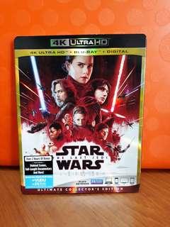 USA Blu Ray Slipcase - Star Wars Last Jedi 4K