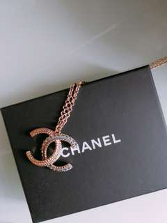 DoubleC CHANEL necklace , with receipt