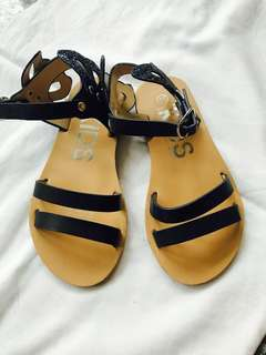Cotton On Kids Navy Blue Butterfly Sandals