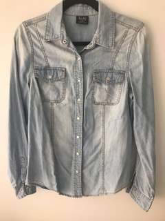 BARDOT Denim Look Shirt (Size 10)