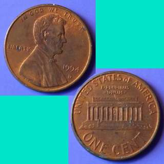 Coin US USA United States of America 1 Lincoln Cent 1994 D