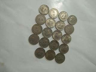 🚚 大伍圓錢幣,63年共19個