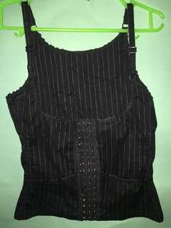 Waist Shoulder Strap Shaper Underbust Corset Black