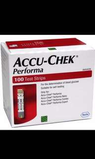 Accu chek perfoma strips 100. Late Expiry Expiry may 19.
