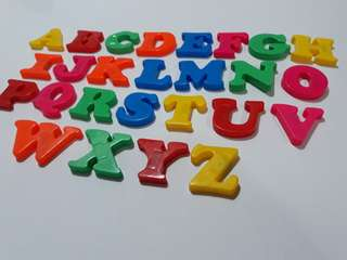 Capital letter magnets + 8 extra letters