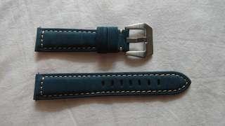 錶帶 全新 20 or 22 mm 真皮錶帶有開關扣, 黑色,深或淺啡色適合蘋果或三星(All New Real Leather Strap, colour black , dark or light brown ) fit for Samsung or apple watch