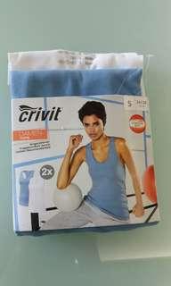 Crivit sport vests ( white and blue)