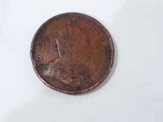 1903 Straits Settlement 1 cent coin
