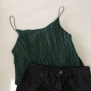 Electric Pleated Cami Top