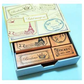 Kodomo No Kao Wood Label Stamp Set