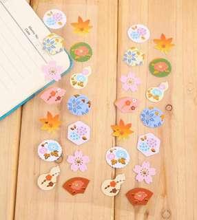 Floral Garden Gold Foil Scrapbook / Planner Stickers #145