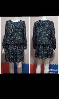 Polka Garter Waist Dress