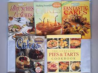 Cake and pastry recipe books