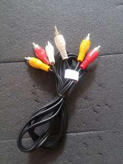 RCA connectors (AV in Video in : AV out Video out