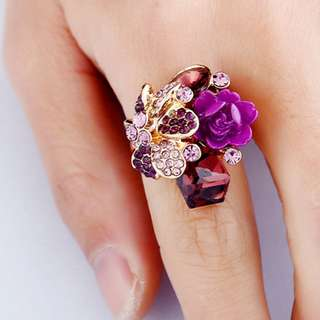 [PO] Gorgeous Flower Crystal Ring