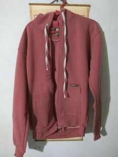 Zipper polos merah jambu
