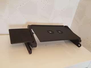 Portable Laptop Desk Computer Table 2 Holes Cooling Laptop S