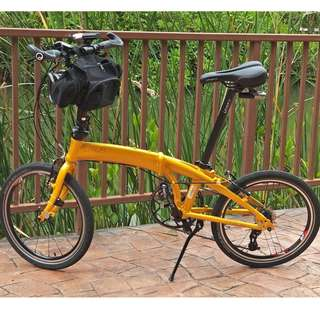 "Crius Velocity 20"" folding bicycle"