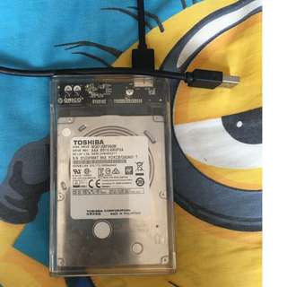 500Gb hdd 2017 & Enclosure for sale