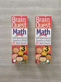 Brain Quest Math (Set of Deck 1 & 2, For Age 8-9)