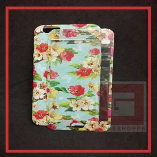 2 in 1 Floral Soft Back Phone Cases + Tempered Glass  📱