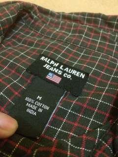 Kemeja Flannel Ralph Lauren Ori