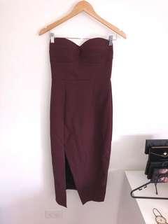 SHEIKE maroon dress