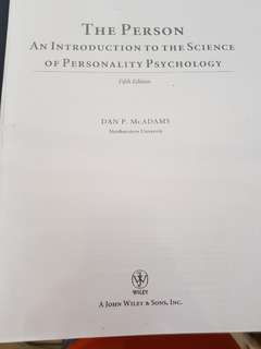 The Person: An introduction to the science of personality psychology by McAdams (5th ed)