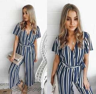 ❣️overlap stripe jumpsuit