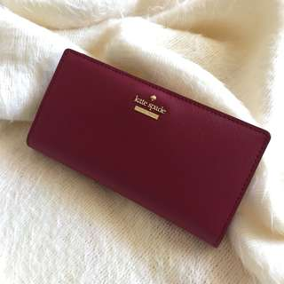 Kate Spade Cameron Street Stacy Wallet in Tempranillo