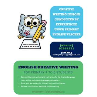English Creative Writing Classes in Punggol