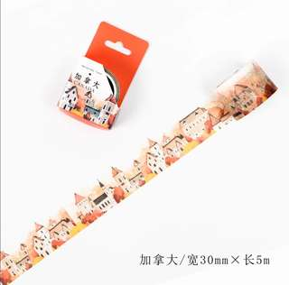 🌸Ready Stock🌸 InfeelMe City × Masking Tape City Series Canada 30mm×5m