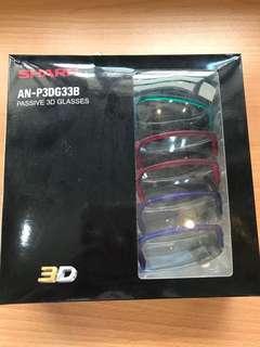 6 pieces Sharp Passive 3D Glasses